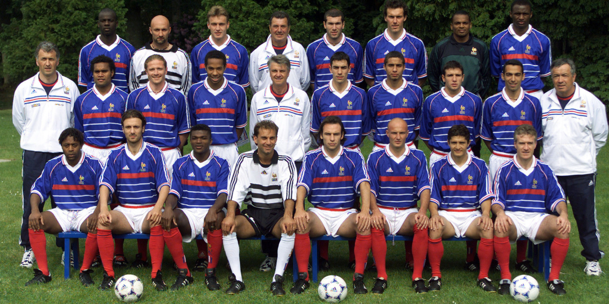 The French national soccer team poses for the official team picture at Clairfontaine, southern Paris..